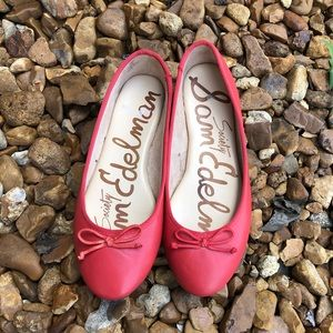 Sam Edelman Red Carrie Society Ballet Flats Size 6